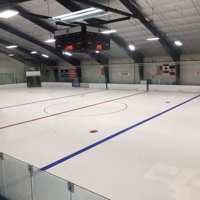 Olympic-sized ice
