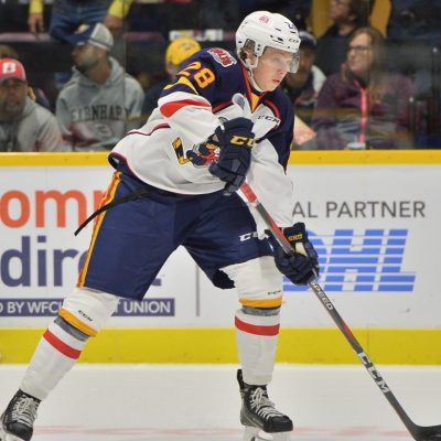 Riley Piercey of the Barrie Colts. Photo by Terry Wilson / OHL Images.